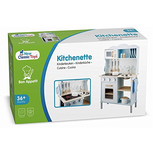 New Classic Toys 11065 Küchenzeile-Modern mit Kochfeld, Multi Color - 9
