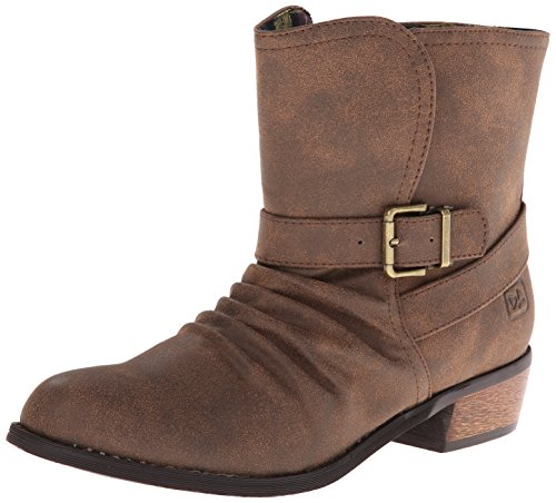 Dirty Laundry by Chinese Laundry Women's Chickadee Distres Motorcycle Boot,Caramel,6 M US