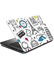Tinywalk Travel Laptop Stickers 17 inch, Multicolour