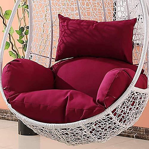 Hangende hangstoel kussens zonder standaard, swing rotan stoel kussen Nest Dik verwijderbare ophangstoel rugleuning met kussen hemel blauw (kleur: lichtgrijs)