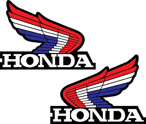 Honda Wings Set of 2 Left & Right Retro Vintage Vinyl Sticker Decal 4'x5' each