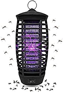 Wellgoo Electric Bug Zapper - LED UV Light, Fly Pests Catcher Lamp, Indoor/Outdoor Electronic Insect Killer with Hook, Eco & Chemical Free.