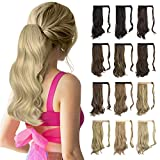 Sofeiyan Curly Ponytail Extension 15 Inch Heat Resistant Synthetic Natural Wavy Hairpiece Wrap...