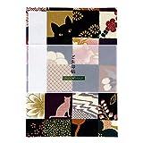 御朱印帳専門店ホリーホック 御朱印帳 猫市松(紫) 通常サイズ 48ページ