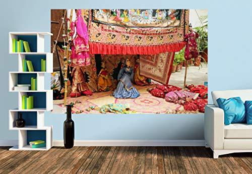 Premium Foto-Tapete Straßenkünstler mit Puppentheater (versch. Größen) (Size M | 279 x 186 cm) Design-Tapete, Wand-Tapete, Wand-Dekoration, Photo-Tapete, Markenqualität von ERFURT