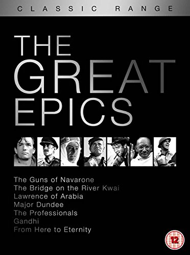 Bridge on the River Kwai, the (Original Version) / from Here to Eternity (1953) / Gandhi / Guns of Navarone, the / Lawrence of Arabia (Restored ... Dundee / Professionals, the (1966) - Set [Reino Unido] [DVD]