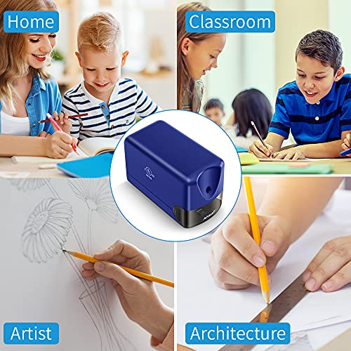 Electric Pencil Sharpener, Heavy Duty Pencil Sharpener Plug in, Classroom Pencil Sharpener for 6.5-8mm No.2 and Colored Pencils, 10000 Sharpening Times w/Upgraded Helical Blade Photo #5