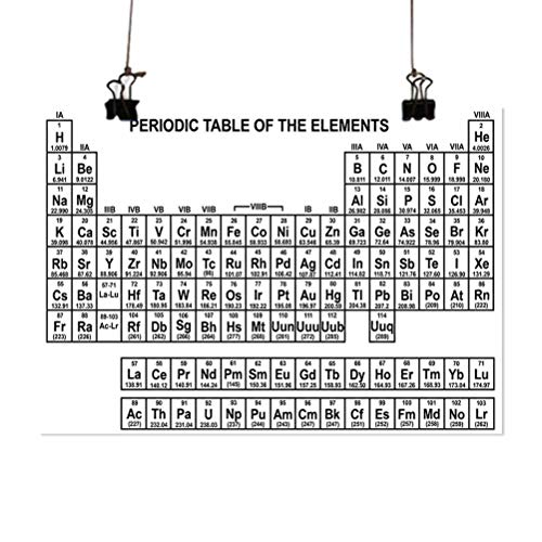ScottDecor Periodic Table Canvas Wall Art Monochrome Simple Science Chemistry Elements for Students Class Image 20x16 inch Wall Artworks Pictures for Living Room