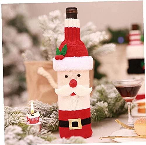 YANGDONG-Adornos decorativos- Decoraciones de Navidad Adornos, 1pc Navidad Botella de vino Bolsas Bolsas de la mesa de boda Decoraciones de la botella de vino Bolsas de regalo Suministros de envoltura