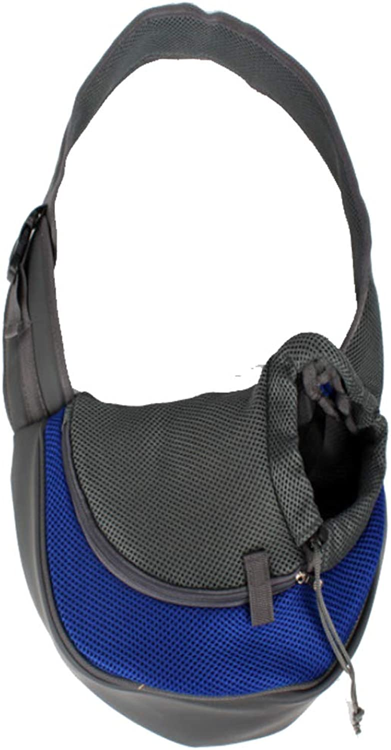 Pet Sling Carrier, Reversible Mesh Travel Tote Shoulder Sling Bag with Comfortable Breathable for Small Dogs Cats