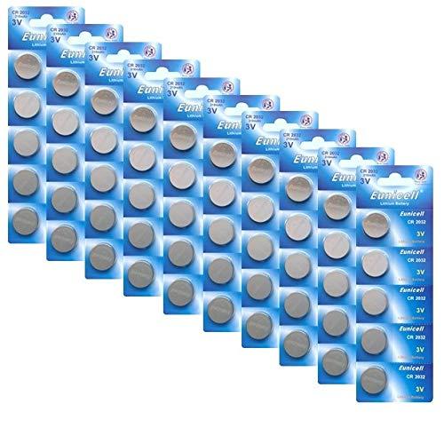 Lot de 50 piles boutons CR2032 DL2032 5004LC CR 2032 3 V