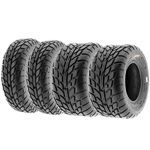 SunF A021 TT Road Go ATV UTV Flat Track & Asphalt Tires 19x6-10 Front & 225/45-10 Rear, 6 PR, Set of 4