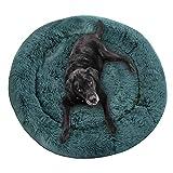Havenfly Cama para Perros Relajante Cama para Gatos Donut con Cremallera, extraíble y Lavable, Cama para Mascotas sofá para Perros sofá para Gatos Almohada mullida L 90×70cm Gris