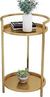 Meubles en Fer forgé Table d'appoint Polyvalente Petit Table Basse Canapé Table d'appoint for Table Snack Salon Chambre Ba...