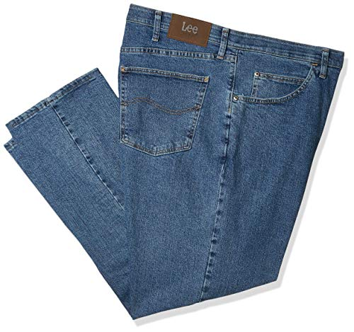 Lee Riders Indigo Men's Big and Tall Big & Tall Motion Stretch Regular Fit Jean, Light Stonewash, 52W x 28L