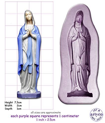 Moule à savon en silicone pour décoration de gâteaux et de savon - Vierge Marie - Moyenne