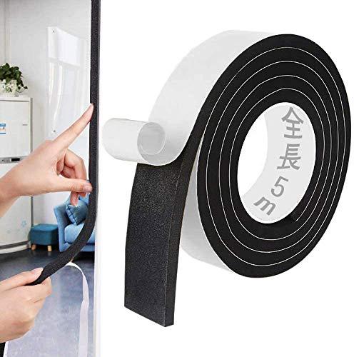 Smilerain50mm*5m(長さ) クッションテープ 防音 隙間テープ すきまテープ 冷暖房効率アップ スポンジロール ショックノンテープ 弾力 防音絶縁 緩衝材 衝突防止 防音戸当たりテープ