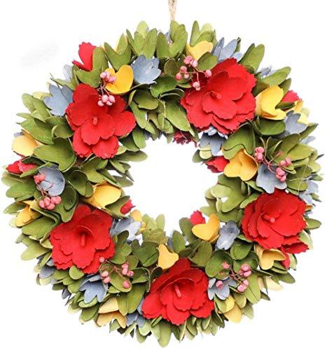 AYN HerbstkranzGroßeVordertür WandbehangHerbstGirlande Ornament, Mehrfarbig