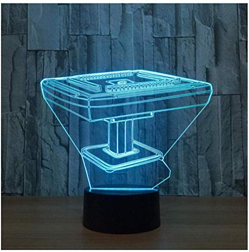 3D Illusion Lamp LED Touch Table Nightstand Lighting Mahjong Game Table Desk Decor for Bedroom Beside Table Decoration Gifts Toys of Girls Boy Kids for Birthday Holiday Christmas Halloween with