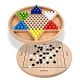 WEROCK Chinese Checkers & Gobang (Five in a Row) 2 in 1 Traditional Strategy Board Game for Family and Party