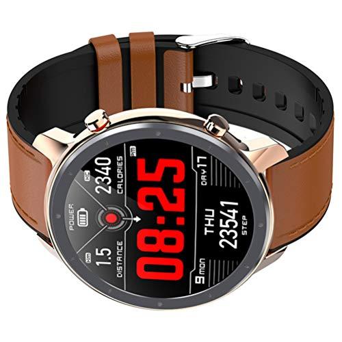 HJKPM Smartwatch, 1.3Inch IP68 Wasserdicht 380Mah Smart Watch Mit Starker Magnetischer Ladeschnittstelle Und Unterstützt Die 24-Stunden-Timing-Herzfrequenzüberwachung,K