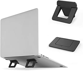 Laptop Cooling Feet Cooling Pad Cooling Stands, [2 Pack] Anti-Slip Durable ABS Elevation Stand Lightweight Stable Kickstand, Ultra Compact & Portable Risers for Ipad, Tablet, Notebook & Macbook(BLACK)