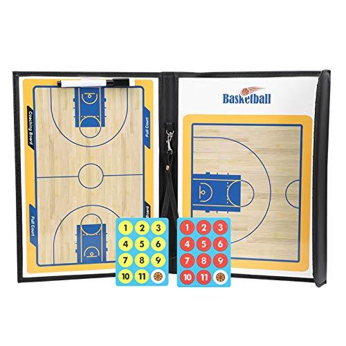 Tablero de baloncesto para entrenadores, colorido, plegable, cuero de PU, impermeable, antideslizante, magnético, entrenadores, tablero de baloncesto, tácticas, placa de exhibición de enseñanza