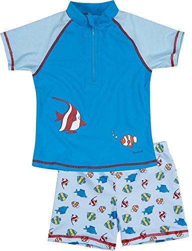 Playshoes Jungen UV-Schutz Bade-Set Fische Badehose, Blau (original 900), 122 (Herstellergröße: 122/128)