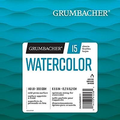 Grumbacher Watercolor Paper Pad, 140 lb. / 300 GSM