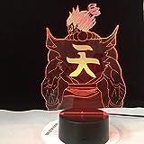 Solo 1 pieza Lámpara de mesa de anime japonés Luz de noche USB 3D LED Luz de noche Figura Decoración Niños Niño Niños Regalos para bebés