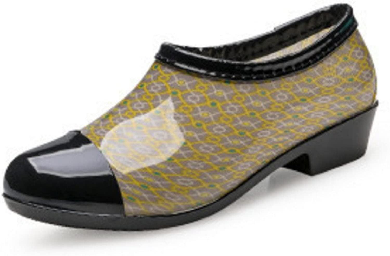 Pit4tk Women's Rain Boots Ladies Short Rain Boots Zipper Jelly Boots