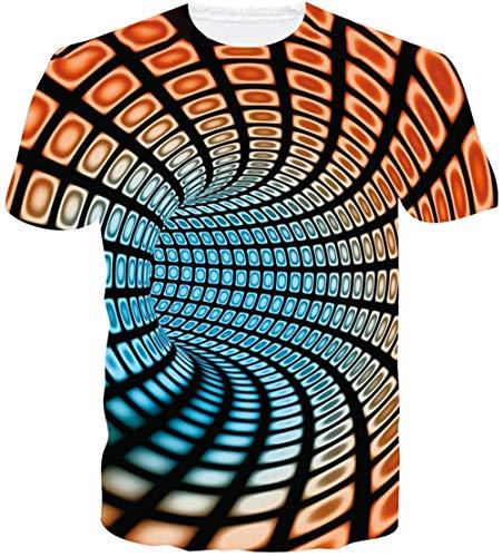 RITIOA Maglietta con stampa a girocollo 3D, unisex, stampa 3D, con maniche corte T15 XXXL