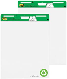 Post-it Super Sticky Easel Pad, 25 x 30 Inches, 30 Sheets/Pad, 2 Pads (559RP), Large White Recycled Premium Self Stick Fli...