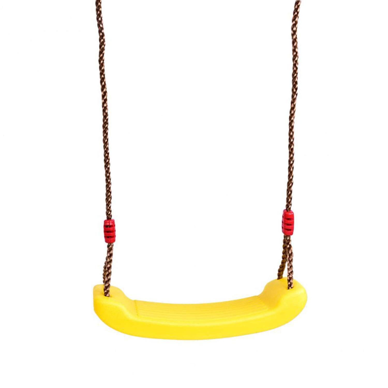 Niño Al Aire Libre Jardín Árbol Columpio Cuerda Asiento Moldeado Para 2-15 Niños Columpios de Plástico Juguetes de Asiento de Cinturón Colgando Jardín de Infantes Patio de Juegos Regalos,Yellow: Amazon.es: Hogar
