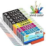 Colorfish 10 364XL Cartucce d\'inchiostro compatibile con HP OfficeJet 4620 4622 Photosmart 5520 5524 6520 5510 7520 6510 5515 B8550 C5380 C6380 C5380 C5390 Deskjet 3070A 3520 3524 3522