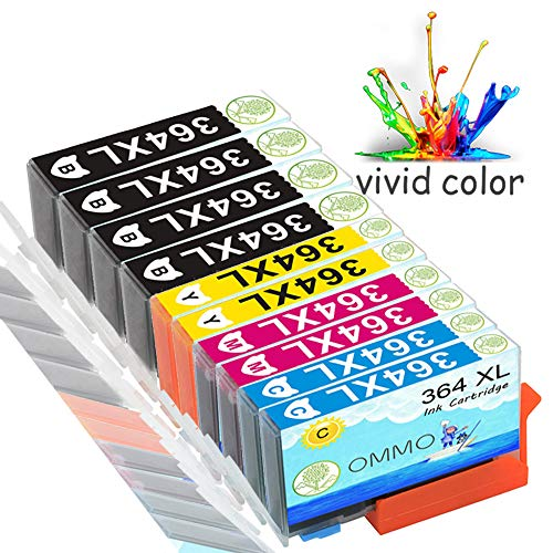 Colorfish 10 364XL Cartucce d'inchiostro compatibile con HP OfficeJet 4620 4622 Photosmart 5520 5524 6520 5510 7520 6510 5515 B8550 C5380 C6380 C5380 C5390 Deskjet 3070A 3520 3524 3522