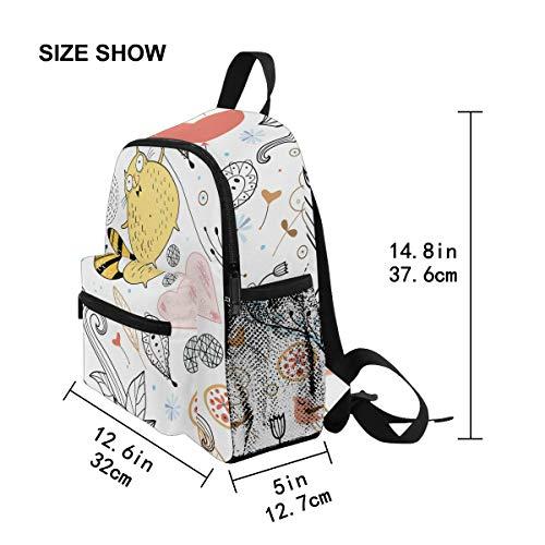 Chic Houses Q Version Cartoon Animal Series Preschool Bookbag Cute Cat Flower Pattern Childish for Kids Little Kid Travel Backpack Kindergarten Elementary School Bag for Kids Boy Girl 2030126