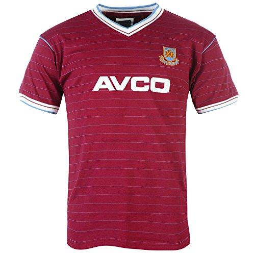 West Ham United FC - Camiseta de la primera equipación temporada 1986 - Para hombre - Producto oficial estilo retro - Small