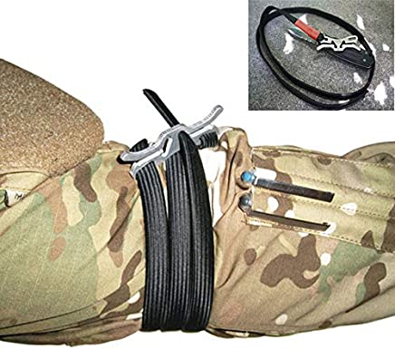 EDC Gear Camping Tourniquet Medical Outdoor Equipment Military Survival Medical Essential Tools Combat Tactical Belt Bandage Kit : Silver