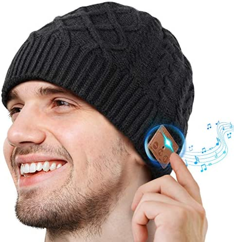 2020 Gifts for Men Women Bluetooth Beanie Stocking Stuffers for Men Women Knit Hat for Men Bluetooth product image