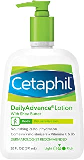 Cetaphil Daily Advance Ultra Hydrating Lotion for Dry/sensitive Skin, Fragrance Free, 20 Fl Oz Pump Bottle