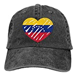 Hoswee Casquette de Baseball Chapeau Love Flag of Venezuela Unisex Custom Cowboy Outdoor Sports Hat Casquette de baseball Ajustable