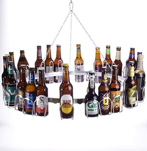BIERSAFE Bier-Kranz/Ring für 24 Flaschen Adventskalender/Hopfenkranz/Erntedank/Maibaum-Ring, Bier-Ring