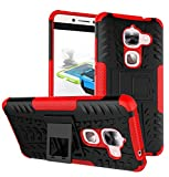 Newlike Armor Shock Proof Case Cover with Back Stand for LeEco Le2 -Red