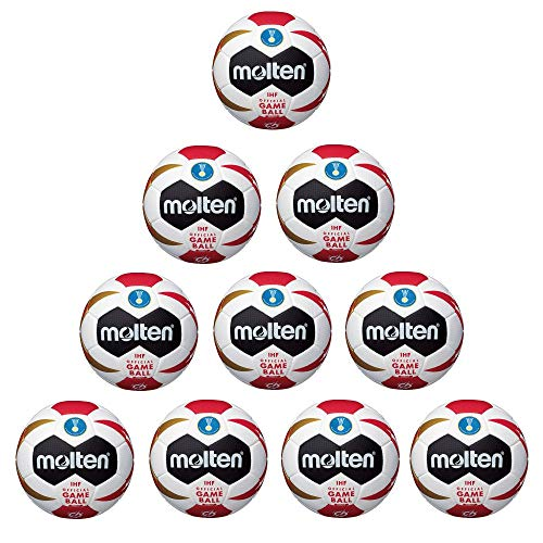 FanSport24 Molten Handball H2X3200-M9Z IHF WM 2019 Replica Spielball 10er Paket Gr 2