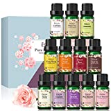 Essential Oils, Esslux Floral Essential Oils Gift Set with Gardenia, Cherry Blossom, Jasmine, White Tea, and More, Pure Aromatherapy Essential Oil for Diffuser, Massage, Holiday, 12 Packs