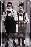 Blechschilder Stan Laurel & Oliver Hardy - Cartel decorativo de metal para puerta (20...