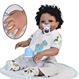 ZZSQ Réincarné Baby Doll Indian Style 23 Pouces 57 cm Enfants ami Doux Simulation Silicone Vinyle magnétique Pacifier Lifelike Boy Toy Fille Black Friday Noël