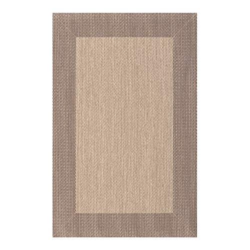STORESDECO - Alfombra Vinílica Deblon, Alfombra de PVC Antideslizante y Resistente, Ideal para Salón, Pasillo, Cocina, Baño… | Color Marrón Claro, 60 cm x 90 cm