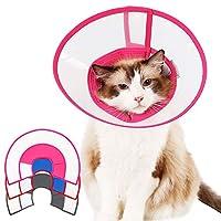 KAMA BRIDAL エリザベスカラー ソフト 猫 犬 透明 布製 小中型 丈夫 手術後 介護ケア 円錐台形